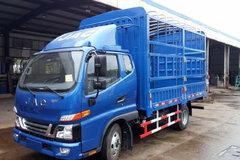 江淮 骏铃V6 130马力 3.8米排半仓栅式轻卡(HFC5043CCYP91K2C2V) 卡车图片
