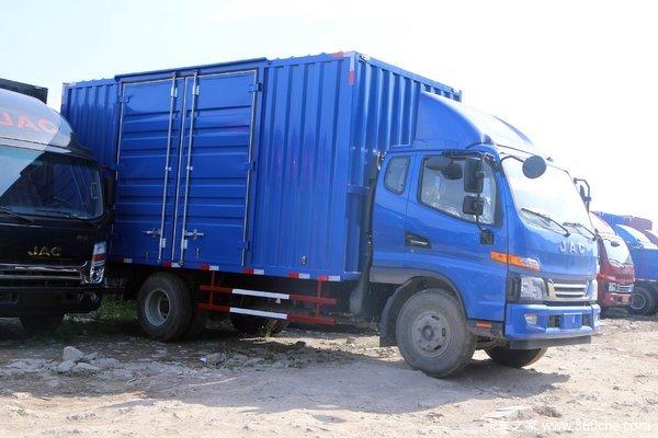 江淮 骏铃V7 154马力 4X2 6.2米排半厢式载货车(HFC5141XXYP91K1D4V)