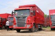 江淮 格尔发A5L中卡 160马力 4X2 5.8米排半仓栅式载货车(8挡)(HFC5161CCYP3K1A45S3V)