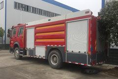 湖北程力 280马力 4X2 重汽豪沃底盘水罐消防车