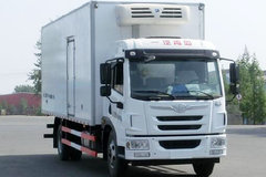 青岛解放 龙V中卡 220马力 4X2 6.75米冷藏车(CA5189XLCPK2L2E5A80)