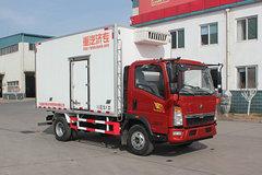中国重汽HOWO 悍将 156马力 4X2 4米冷藏车(绿叶牌)(JYJ5047XLCE2)