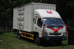 江铃 凯威中卡 156马力 4X2 6.1米排半厢式载货车(JX5090XXYXPRC2)