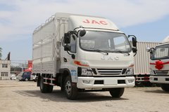 江淮 骏铃V6 120马力 3.85米排半仓栅式载货车(HFC5043CCYP91K1C2V)图片