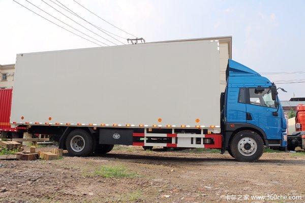 降价促销解放龙V9米6厢式仅售16.20万
