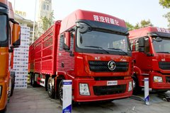 陕汽重卡 德龙X3000 绿通版 350马力 8X4 9.5米仓栅式载货车(SX5310CCY4C4561) 卡车图片