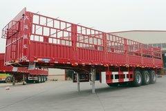 大运 13米平板花栏仓栅式半挂车