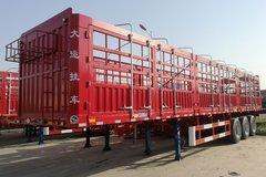 大运 13米平板花栏对开仓栅式半挂车