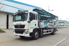 中国重汽 HOWO 280马力 4X2 33米混凝土泵车(森源牌)(SMQ5202THB)