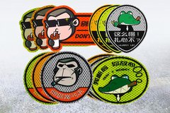 3M 钻石级卡通反光贴 大佬猴/黑蝙蝠/流氓鳄 反光贴