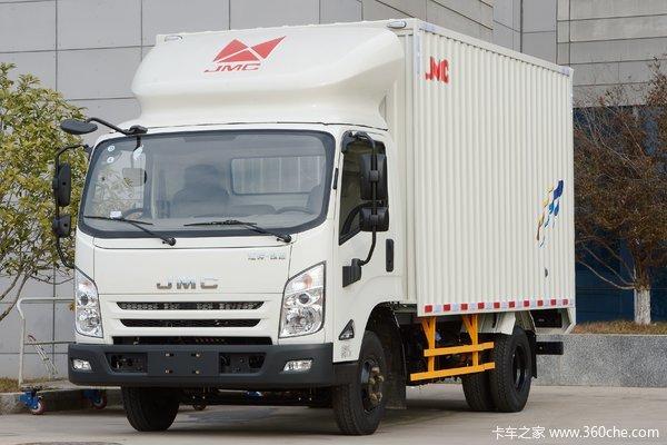 江铃 凯运蓝鲸 重载型普通款 129马力 4.08米单排厢式轻卡(JX5042XXYXGD2)