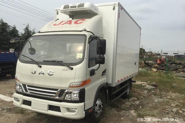 江淮 骏铃V6 141马力 4X2 4.03米单排冷藏车