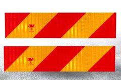 3M反光尾板 橙色斜纹反光贴 标志板警示车身贴