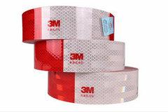 3M反光贴 红白胶条车身警示标识夜光 年检专用