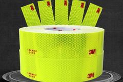 3M 钻石级反光贴荧光黄绿 校车反光贴