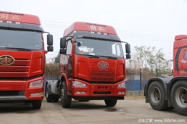 一汽解放 J6M重卡 350马力 4X2牵引车(高顶)