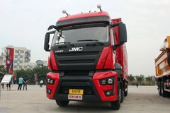 江铃重汽 威龙重卡 365马力 8X4 9.5米厢式载货车(SXQ5310XXYJ5A2D5)
