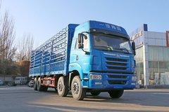青岛解放 途V重卡 350马力 8X4 9.5米仓栅式载货车(CA5313CCYP2K2L7T4E5A80-1)图片