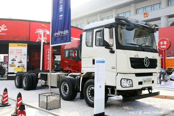 陕汽重卡 德龙X3000 绿通版 460马力 8X4 9.55米仓栅式载货车(SX5310CCY4C4561)