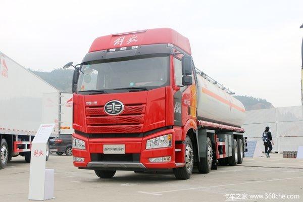 一汽解放 新J6P 山区款 390马力 8X4运油车(醒狮牌)