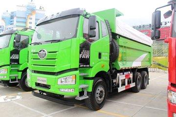 一汽解放 J6P重卡 430马力 6X4 5.6米LNG自卸车