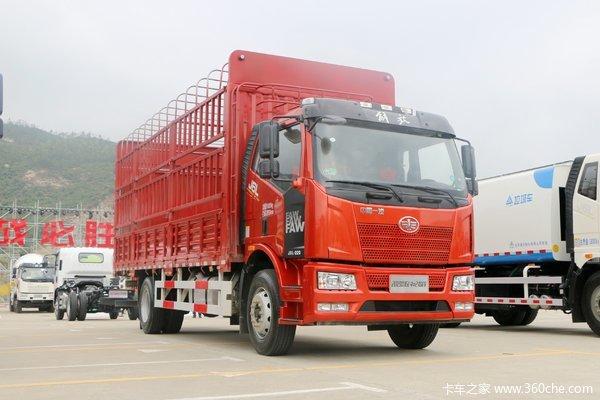 降价促销解放J6L载货车高栏仅售17.70万