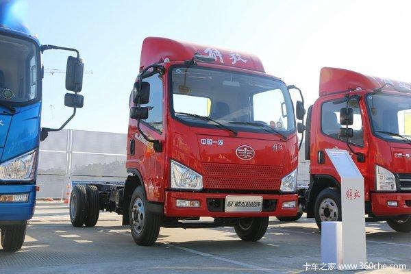 解放 J6F 130马力 4.16米单排厢式轻卡底盘(CA5040XXYP40K56L2E5A84)