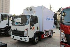 中国重汽HOWO 悍将 物流版 170马力 4X2 5.4米单排半冷藏车(ZZ5107XLCG421CE199)
