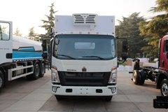 中国重汽HOWO 悍将 物流版 170马力 4X2 4.7米排半冷藏车(ZZ5107XLCG421CE199)