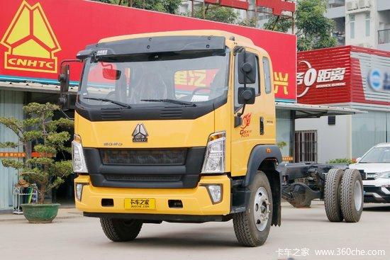 中国重汽HOWO G5X中卡 220马力 4X2 6.2米排半栏板载货车(ZZ1187G471DE1)