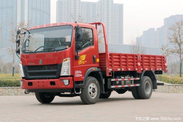 中国重汽HOWO 王系 190马力 4.15米单排栏板轻卡(国六)