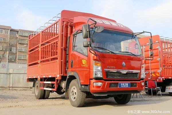 中国重汽HOWO 悍将 科技版 116马力 4.15米单排仓栅式轻卡(ZZ5047CCYC3315E143)