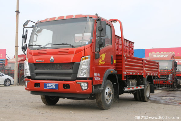 中国重汽HOWO 统帅 148马力 4.165米单排栏板轻卡