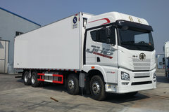 青岛解放 JH6重卡 460马力 8X4 9.4米冷藏车(冰凌方)图片