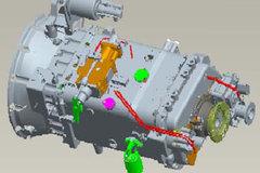 中国重汽HW15710C 10挡 手动变速箱