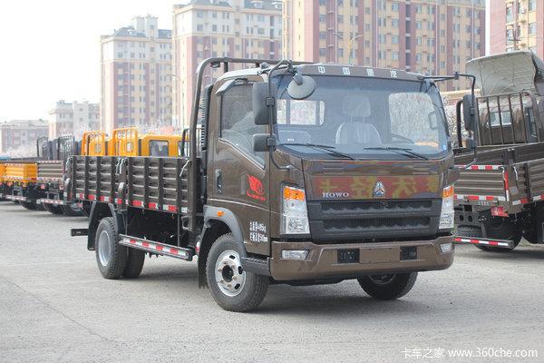 中国重汽HOWO 悍将 156马力 4.165米单排栏板轻卡(ZZ1047G3315E145)