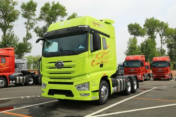 一汽解放 J7重卡 基本型 550马力 6X4牵引车(嫩芽绿)
