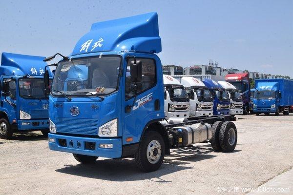 解放 J6F 2020款 城配版 160马力 4.16米单排厢式轻卡