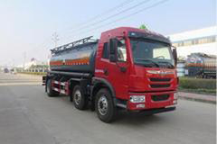 青岛解放 龙V 220马力 6X2 腐蚀性物品罐式运输车(特运牌)(DTA5251GFWCA5)