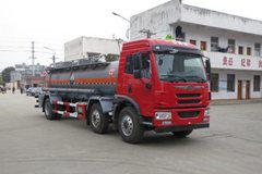 青岛解放 龙V 220马力 6X2 腐蚀性物品罐式运输车(醒狮牌)(SLS5253GFWC5V)