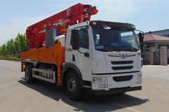 青岛解放 悍V 260马力 4X2 混凝土泵车(九合重工牌)(JHZ5201THB)