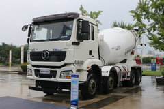 陕汽重卡 德龙新M3000 350马力 8X4 7.99方LNG混凝土搅拌车(国六)