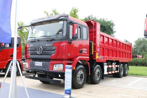 陕汽重卡 德龙X3000 430马力 8X4 8米自卸车