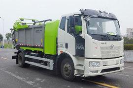 一汽解放 12.49T 8.23米纯电动压缩式垃圾车(中联牌)