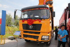 陕汽 德龙F2000重卡 350马力 6X4 5.6米LNG自卸车(SX3256DR384TL) 卡车图片