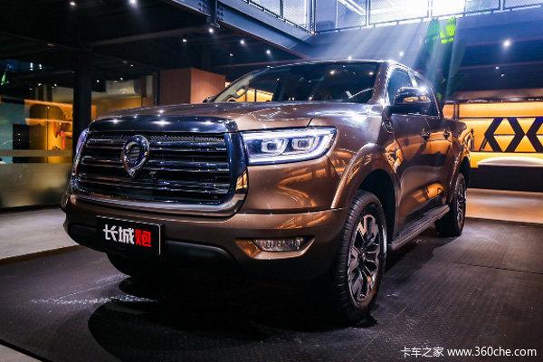 长城炮 2019款 2.0T柴油 190马力 四驱 8挡自动 双排皮卡(国六)