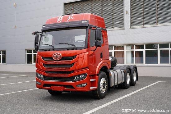 青岛解放 悍V重卡 375马力 6X4牵引车(一汽解放变速箱)(CA4256P1K2T1E5A80)