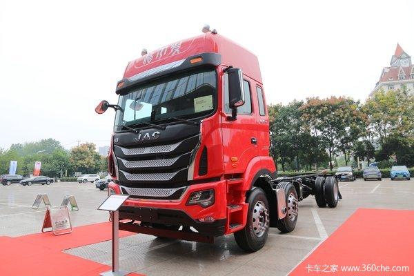 江淮 格尔发K5W重卡 290马力 6X2 7.8米栏板载货车