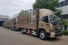 福田 奥铃大黄蜂 220马力 6.8米排半仓栅式载货车(国六)(BJ5186CCY-1M)