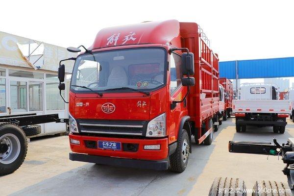解放 虎VH 156马力 3.82米排半仓栅式轻卡(万里扬)